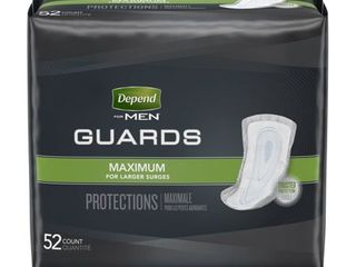 Depend Incontinence Guards for Men  Maximum Absorbency  52 Count