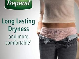 Depend FIT FlEX Incontinence Underwear for Women  Disposable  Maximum Absorbency  Medium  Blush  Pack of 28