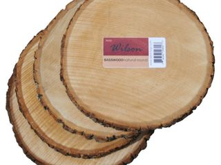 4 Pack Natural Basswood Slices
