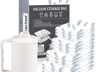 VacBest Vacuum Storage Space Saver bags 12 Combo  3 Small  3 Medium  3large   3 Jumbo  With a Powerful Electric Pump for Travel and Household Usage