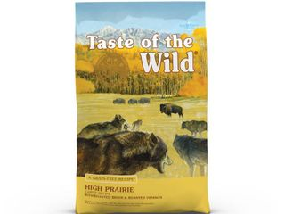 Taste of the Wild Grain Free Roasted Bison   Roasted Venison High Prairie Dry Dog Food  14 lb Best by Date  12 09 2020