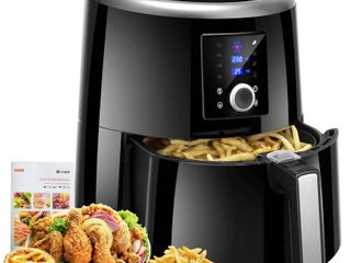 Habor Air Fryer Xl  5 8QT Oilless Air Fryer Oven  7 Cooking Presets Electric Hot Air Cooker with Heat Preservation Function  Digital Touch Screen  Detachable Basket Dishwasher Safe