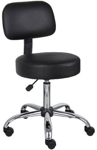 Stool with Back in Black