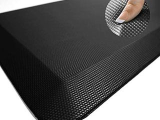 Anti Fatigue Mat   Cushioned Comfort Floor Mats for Kitchen  Office   Garage   Padded Pad for Office   Non Slip Foam Cushion for Standing Desk  20x38 Inch  Grey   small cut