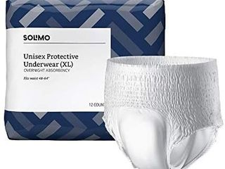 Brand   Solimo Incontinence Underwear For Men And Women Overnight Absorbency