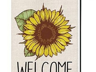 Welcome Sunflower Garden Flag Vertical Double Sided  Summer Fall Flag Yard Outdoor Decoration 12 5 x 18 Inch