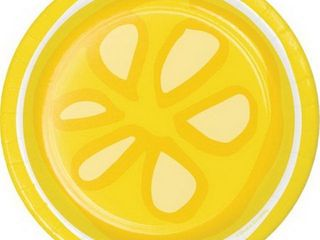 Creative Converting 335358 Picnic lemonade luncheon Plate 2 packs of 8 each with 1 pack of 16 napkins