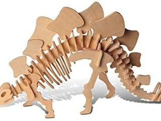 3D Woodcraft Jigsaw Construction Puzzle Kit   Wooden Dinosaur Skeleton 3 pack