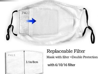2 Mouth Mask With Carbon Filter   Washable Reusable Adjustable Face Mask With 6 Filters each