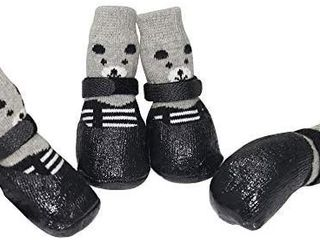 URBEST Dog Socks  Boots Shoes for Dogs Cat Socks Non Slip Soles Adjustable Dog Cat Paw Socks Fit for Puppy and Small Dogs  S  Red