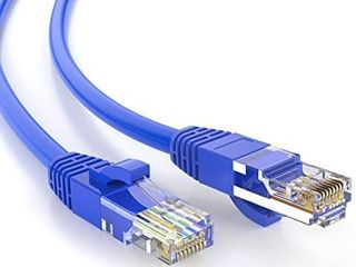 5 Feet  1 Pack  CAT 5e Ethernet Patch Cable  RJ45 Computer Network Cord  Cat5 Cat5e Cat6 lAN Cable UTP 24AWG 100  Copper Wire for PC  Mac  laptop  PS3  PS4 Xbox  1 52m  Blue Color