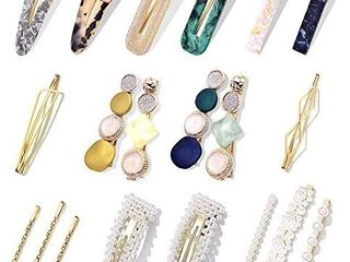 11Pcs Pearl Hair Clips   Cehomi Fashion Korean Style Pearls Hair Barrettes Sweet Artificial Macaron Acrylic Resin Barrettes Hairpins for Women ladies and Girls Headwear Styling Tools Hair Accessories   see pictures for styles