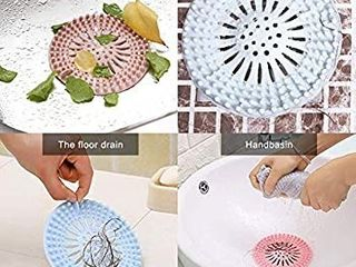 Hair Catcher Durable Silicone Hair Stopper Shower Drain Covers Easy to Install and Clean Suit for Bathroom Bathtub and Kitchen 2 Pack