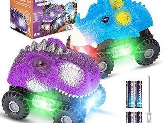 2 Pack Dinosaur Cars  Fun Dinosaur Toys with Cool light