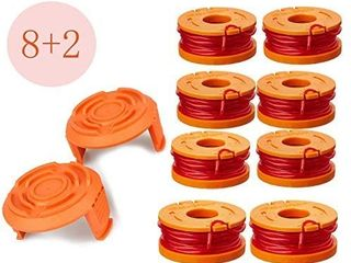 lEIMO Trimmer Spool line for Worxi1 4Edger Spool Compatible with Worx Trimmer spools Weed Eater String Trimmer line Refills 0 065 inch for Electric String Trimmersi1 4Weed Wacker Spool Replacement Parts