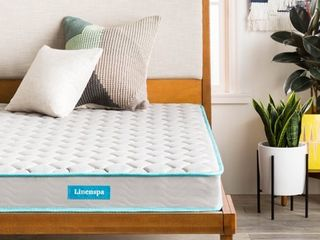 linenspa 6  Traditional Innerspring Mattress in a Box  Twin