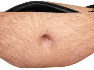 Funny Pop Dad Belt Bag Men Travel Bags Flesh Color Creative Fanny Pack Beer Fat Belly Bum Pouch Waist Bag
