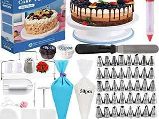 Cake Decorating Supplies   Cake Decorating Kit Cake Rotating Turntable and More Accessories  Create Amazing Cakes With This Complete Baking Supplies