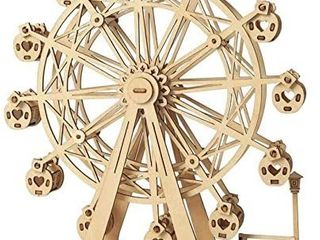3D Puzzle Wooden Model Ferris Wheel Woodcraft Building Kits for Teens and Adults Children s New Year Christmas Birthday Gifts Natural
