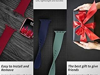 Bands Compatible with Apple Watch Band 38mm 40mm 42mm 44mm  Soft Silicone Sport Replacement Band Compatible with iWatch Series 6 5 4 3 2 1 Women Men Cactus 38mm 40mm S M   bands only  pack of 5  solid colors