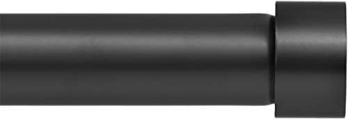 Ivilon Window Curtain Rod missing End Cap   1 Inch Pole  72 To 144 Inch  Black   missing end caps