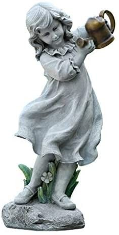 Joseph s Studio by Roman   Girl with Watering Can  22H  Garden Collection  Resin and Stone  Decorative  Gift  Home Outdoor and Indoor Decor  Durable  long lasting