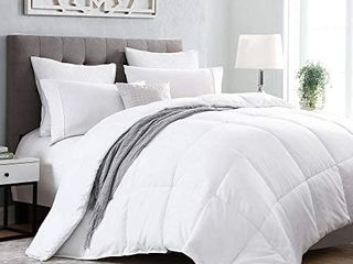 Kingsley Trend Down Alternative Quilted Stand Alone Comforter Duvet Insert All Season Soft Comforter  Machine Washable   White   King  104 x 92