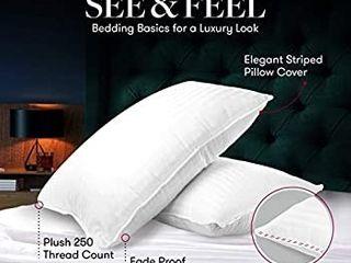 Beckham Hotel Collection Gel Pillow   luxury Plush Gel Pillow   Dust Mite Resistant   Hypoallergenic   Queen