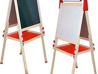 Deluxe Standing Art Easel  Chalkboard  Paper Roller magnetic Whiteboard