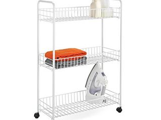 Honey Can Do Crt 01149 3 Tier laundry Cart  23 l x 8 W x 31 H  White