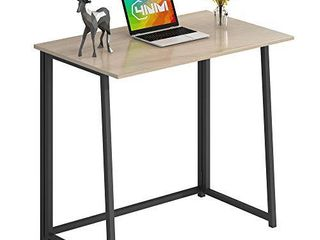 4NM 31 5  Small Desk Folding Computer Desk Home Office Desk Study Writing Table for Small Places   Natural and Black
