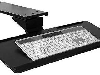 Mount It  Under Desk Keyboard Tray and Mouse Platform  Ergonomic Computer Keyboard Drawer with Gel Wrist Pad  17 inch Space Saving Track  Black  MI 7138