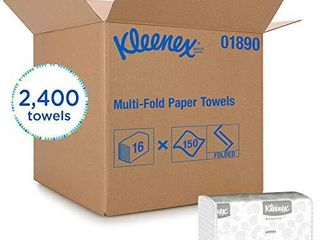 Kleenex Multifold Paper Towels  01890  White  16 Packs Case  150 Tri Fold Paper Towels Pack  2 400 Towels Case