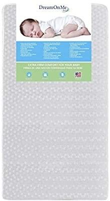 Dream On Me  Orthopedic Firm Foam Standard Crib Mattress  White  Full  5E5Wl