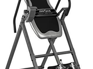 Innova Inversion Table with Adjustable Headrest  Reversible Ankle Holders  and 300 lbs Weight Capacity