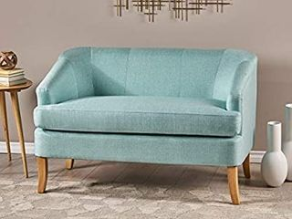 Christopher Knight Home Sheena Mid Century Modern Fabric loveseat  light Blue