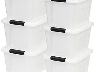 IRIS USA TB 17 19 Quart Stack   Pull Box  Multi Purpose Storage Bin  6 Pack  Pearl   All lIDS ARE BROKE
