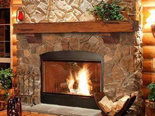 Pearl Mantels 412 60 50 Shenandoah Pine 60 Inch Fireplace Mantel Shelf  Rustic Medium
