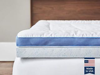 ViscoSoft Pillow Top latex Mattress Topper Queen   Serene 3 Inch Gel latex Mattress Pad   Premium Quilted Cover