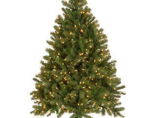 National Tree 4 5  Artificial Downswept Douglas Fir lED lights Christmas Tree