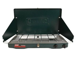 Coleman Matchlight 10 000 BTU 2 Burner Propane Stove with 1 Gallon Jug Value Bundle