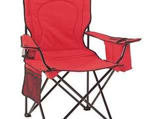 Coleman Portable Quad Camping Chair with Cooler   Red  37  x 24  x 40 5  BAG HAS RIP IN IT