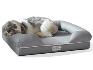 PetFusion Ultimate Dog   Cat Bed   lounge   Small Slate Gray  25 x 20 x 5 5 Small Bed   Slate Gray  Premium Edition w  Solid 2  Memory Foam