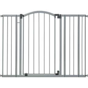 Summer Infants 33180Z   Extra Tall   Wide Safety Baby Gate  Cool Gray