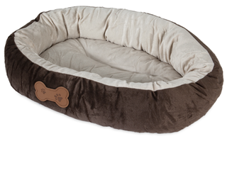 Aspen Pet Oval Cuddler Pet Bed  20 Inch by 16 Inch  Chocolate Brown