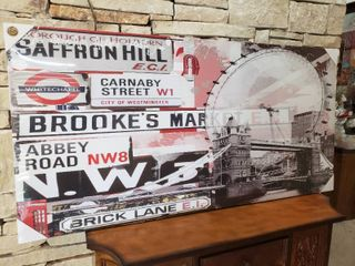 Famous london Signs   Wall Art   53  x 27