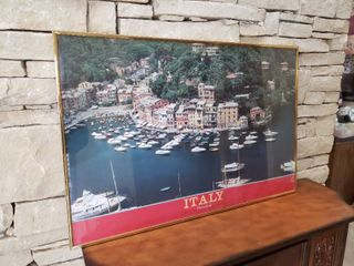 Italian Dock   Framed Wall Art   36  x 24