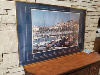 French Dock   Framed Wall Art   36  x 24
