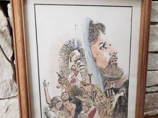 Famous Moments in the life of Jesus   Framed Wall Art   12  x 15