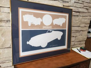 White Classic Jags   Framed Wall Art   Signed by Artist    190 of 500   30  x 24
